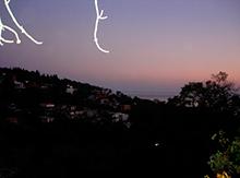 А спать нас проводило потрясающее черногорское небо