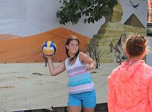 Состязались и волейбольные команды.