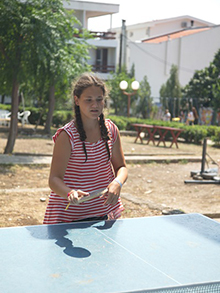 Настольный теннис тоже пользовался популярностью… как у девочек…