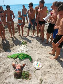 … например: превратить своего друга в песчаную Русалку…