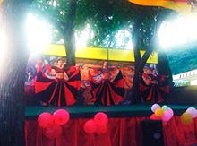 Самую настоящую испанскую страсть продемонстрировали танцовщицы коллектива «Лабиринта» в зажигательном «Фламенко».